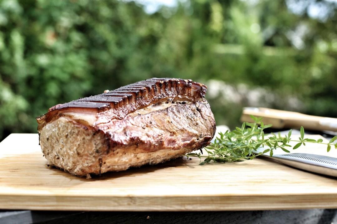 Schweinerücken-Sandwich