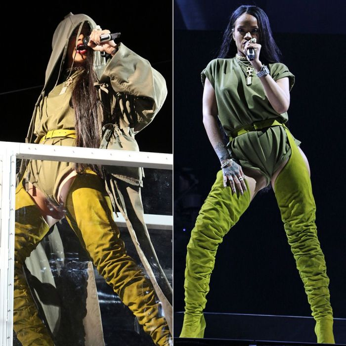 Rihanna in Olive Green Outfits at Made in America - Haus of Rihanna