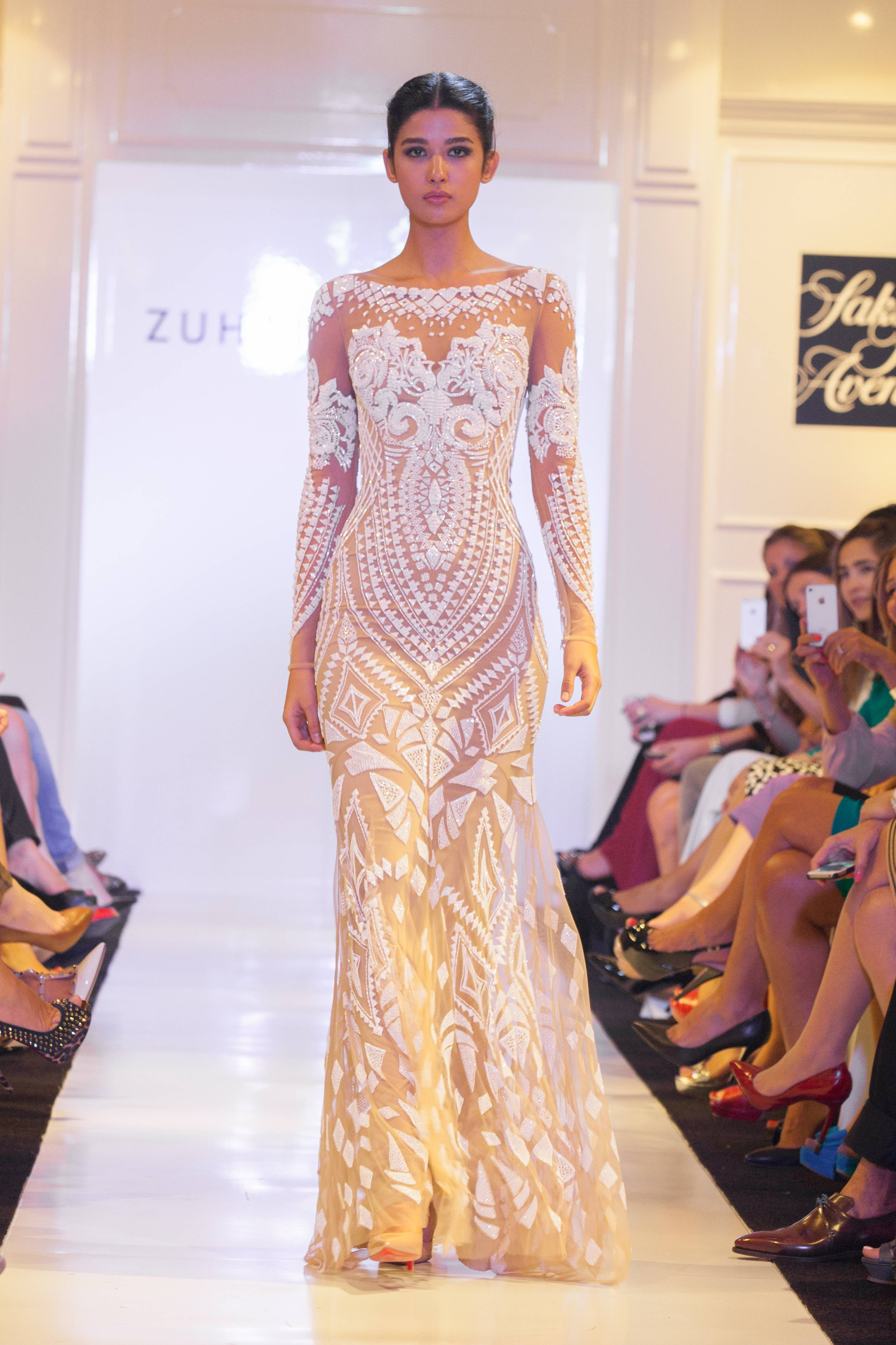 High Russian Pop Artist Victorvasarely Featured Contrasting Lines Often A Leitmotif Geometricflowers To Zuhair Murad Presents Eveningwear At Saks Fifth Collection Was Inspired By Work wedding dress Saks Fifth Avenue Dresses