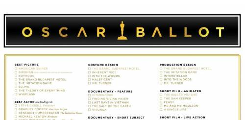 Oscar Ballot Printable Version 2015 2017 - Oscars 2015: Printable ...