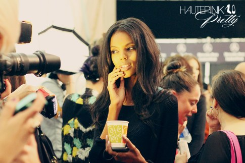 BCBGMaxazria Runway SS13 Backstage Behind the Scenes - Model