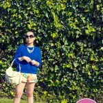 Allison Chomer Tropics Shorts + Cuore & Pelle Tonia Bag + Sole Society Francesca Pumps