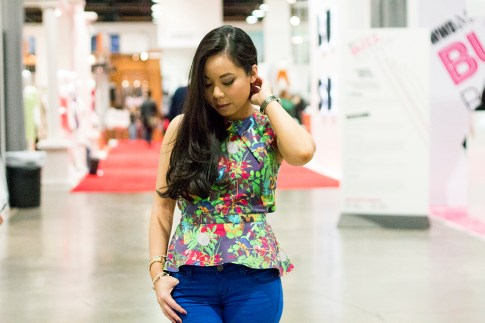 roadtoMAGIC Wearing Maurie &amp; Even Tropical Peplum Top, YMI Jeans