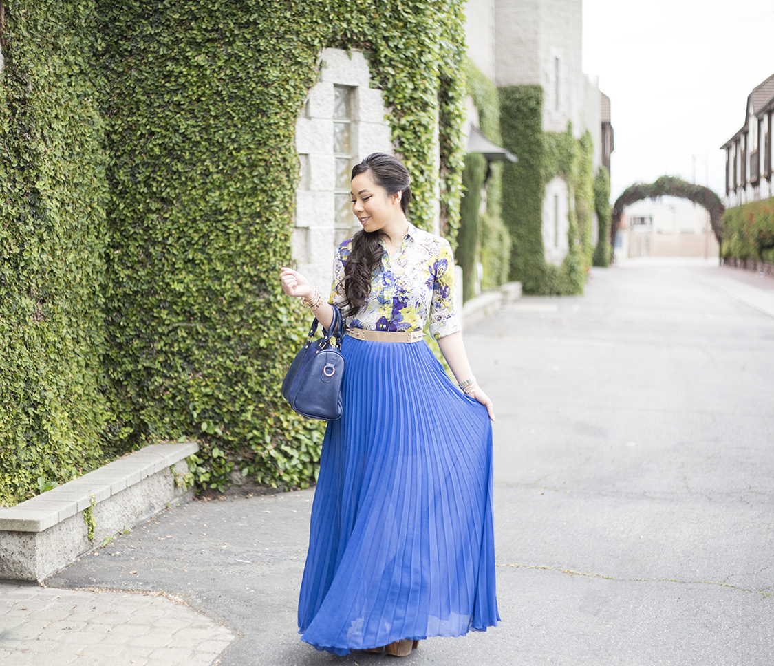 Zara Cobalt Blue Blouse 11