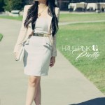 Elizabeth & James Sunglasses + Lucy Paris Jacket + H&M Peplum Dress + Sole Society Shoes + Hauskrft Bag