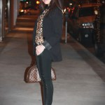 Zara Leopard Blouse & Trousers + JewelMint Polar Ends Bracelet + Petrossian's Caviar