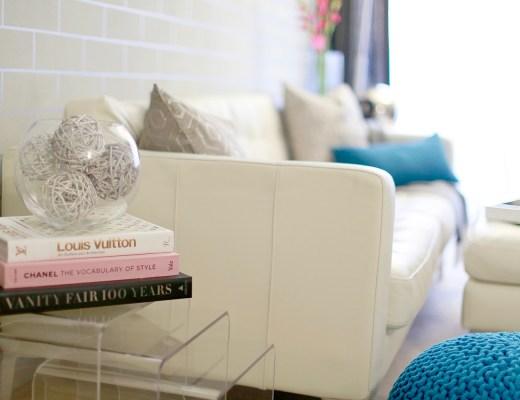 Living Room Interior Decor with Frette