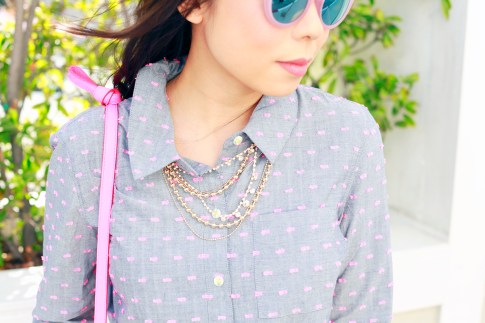 An Dyer wearing Juliet and Co Necklace Layered Gold
