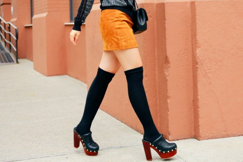 An Dyer NYFW Street Style SS16 Clogs OTK Socks