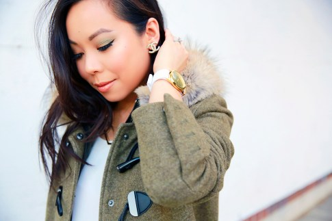 Smashbox Art Love Color Master Class, Chanel Earrings, 1Face Watch, Dawn Levy Coat