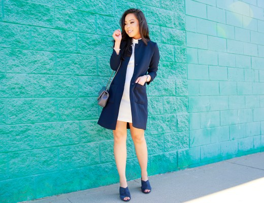 an-dyer-wearing-armani-exchange-three-button-jacket-with-white-dress-and-suede-mules