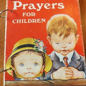 Prayers for Children Upcycled Little Golden Book Journal