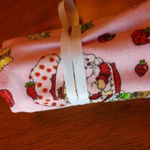 Strawberry Shortcake Red Polka Dot Crayon Roll Up