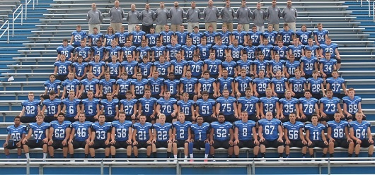 Rodney Axson ( front row center) and his 2016 Blue Devils teammates.