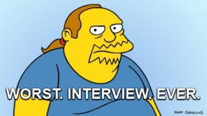 Worst Interview ever Comic Book Guy image