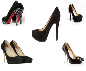 Black pumps are essential for a college woman's wardrobe.