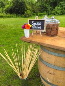 Rustic - Smores station