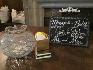 Handwritten wish box at Toronto wedding