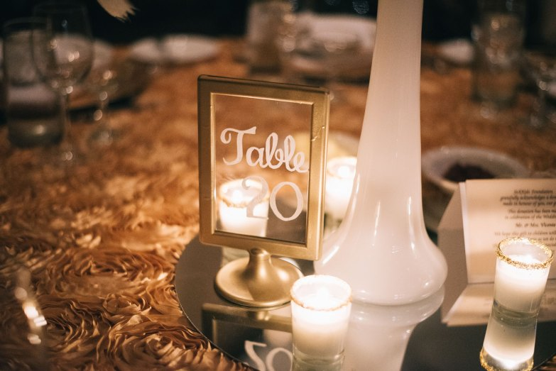 Beautiful Handwritten Wedding Table Number Ideas