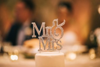 Crystal Mr. and Mrs. Wedding Cake Topper