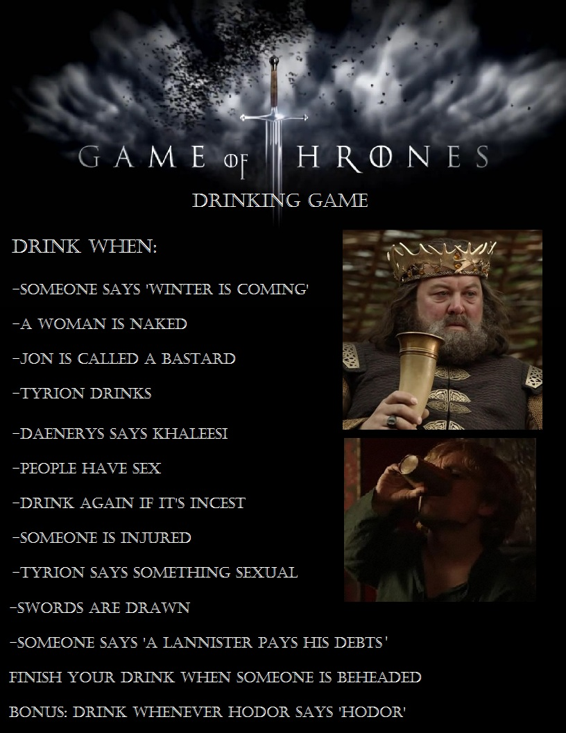Fullsize Of Game Of Thrones Drinking Game