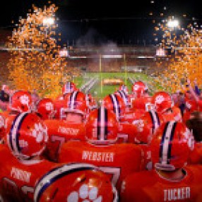 during their game at Memorial Stadium on October 19, 2013 in Clemson, South Carolina.