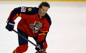 Nov 27, 2015; Sunrise, FL, USA; Florida Panthers right wing Jaromir Jagr (68) skates on the ice prior to the game against the New York Islanders at BB&T Center. Mandatory Credit: Robert Mayer-USA TODAY Sports