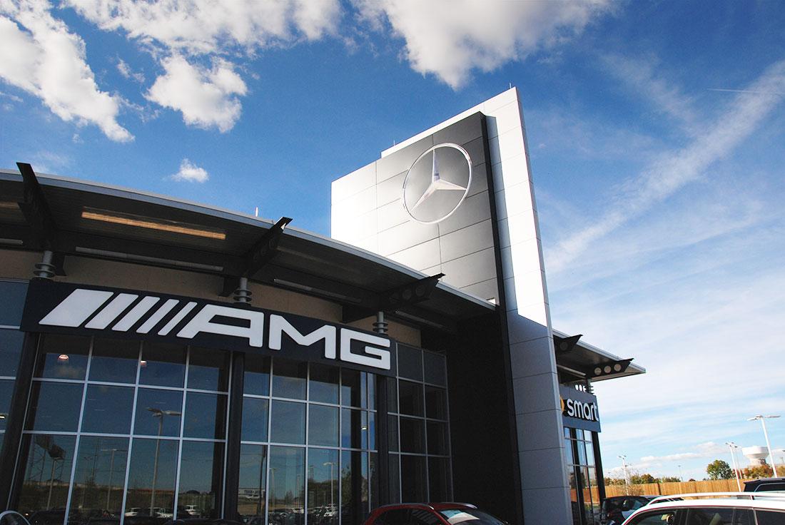 Harper Clayton Construction | Mercedes Benz Of Plano Aluminum Composite  Panels
