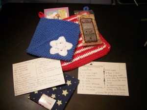 July Picnic Swap in red white  Blue