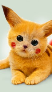 Cute-Kitty-Pokemon-on-iPhone-6-for-Wallpaper