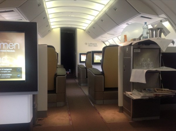 Lufthansa First Class review 747