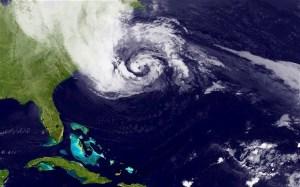 Hurricane Sandy satellite image, taken October 28, 2012