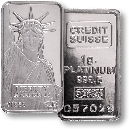 Platinum one ounce bar