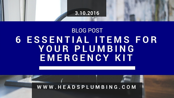 6 Essential Items for Your Plumbing Emergency Kit
