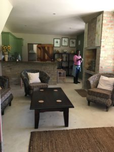 Living area – TV + full DSTV and doors our to both stoops