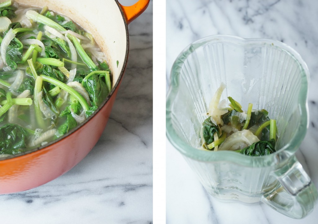 Fennel + Spinach Soup Collage - Healing Family Eats