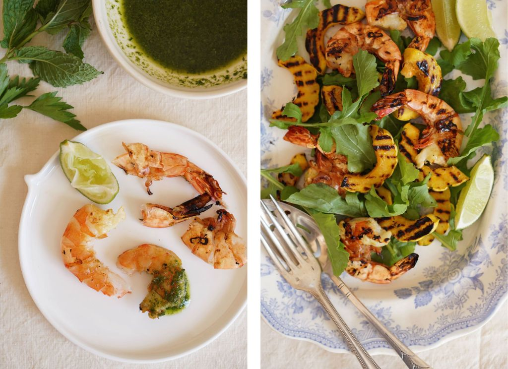 Chargrilled Prawns & Delicata Collage