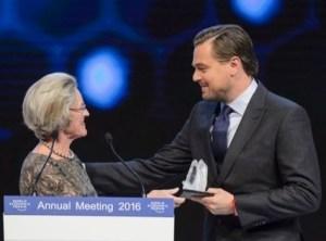 Leonardo DiCaprio accepting Crystal Award