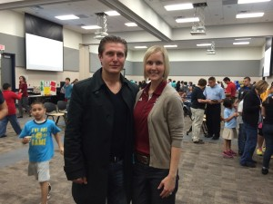 Samir and Pasadena ISD Wellness Coordinator Angela Balch