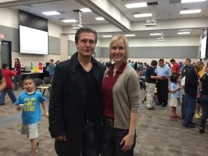 Samir and Pasadena ISD Wellness Coordinator Angela Balch