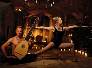 sting and wife yoga