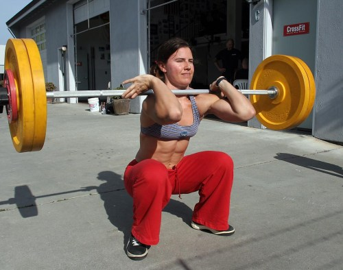 crossfit girl front squat 1,000,000,001 Different Ways to Squat