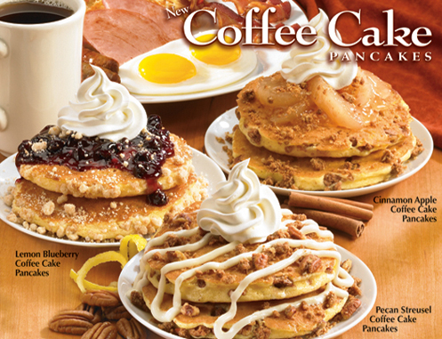 ihop coffee cake pancakes Carb Junkie Weekend   An Experiment in Real Life Nutrition