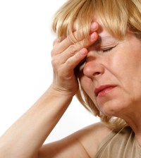 Woman with headache pain