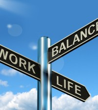 CPADJN Work Life Balance Signpost Shows Career And Leisure Harmony