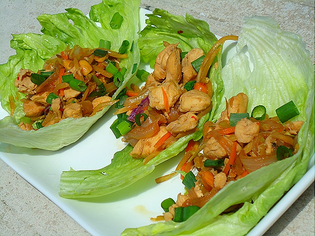 Asian Chicken Lettuce Wraps (2/3)