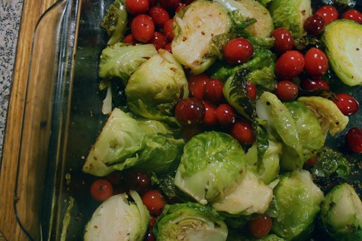 pan of brussels and cranberries.jpg