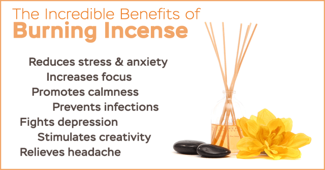 burning incense benefits