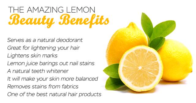 lemon beauty benefits