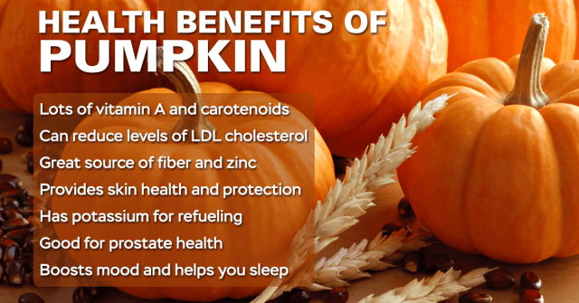 pumpkin health benefits